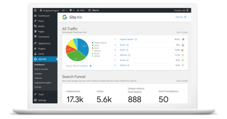 Site Kit Plugin di Google