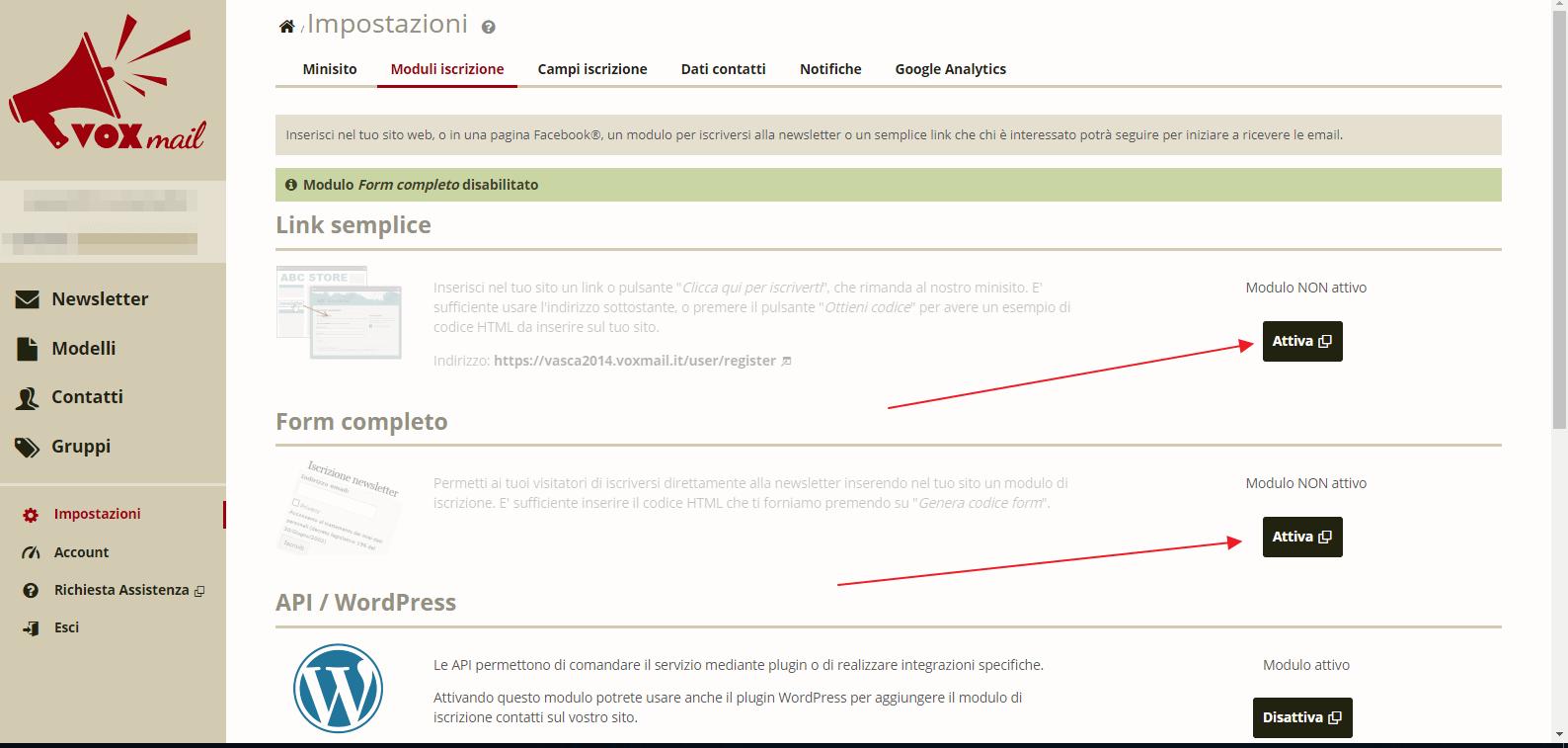 Invio newsletter gratis